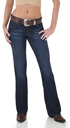 Wrangler Women's Jeans Premium Patch Mae Boot Cut Denim 3W x 34L