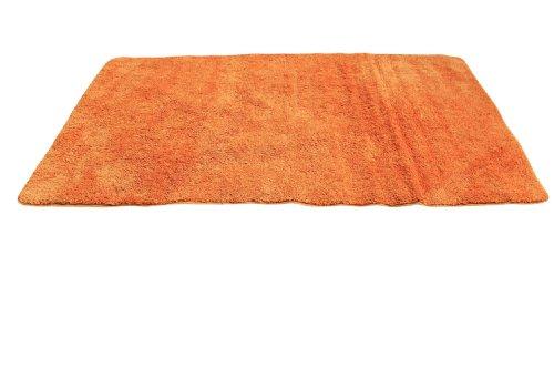 Tache 36 X 60 Inches Super Absorbent Solid Sunny Orange Microfiber Rugs/Bath Mats/ Bath Rugs/Floor Mat/ Area Rug/ Door Mats front-1012925