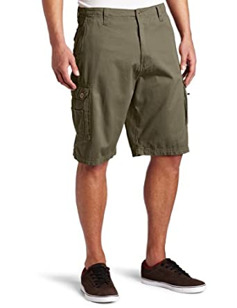 Burnside Men's Current Cargo Twill Short, Army, 38