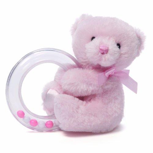 Gund Baby Gund My 1St Teddy Ring Rattle, Pink front-709375