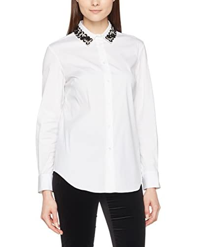 PIAZZA SEMPIONE Bluse klassisch weiß/grau