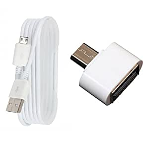 USB Data Cable and OTG Adapter For Samsung, Micromax, LG, Motorola, Nokia, Karbon, Maxx, Lava, Sony, HTC and All Smartphones