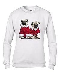 Pug Dog Santa Claus Christmas Women's Sweatshirt \ Jumper by Tribal T-Shirts