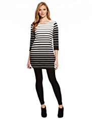M&S Collection Striped Ponte Tunic with StayNEW™