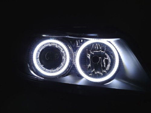 X240 Uhp White Led Angel Eye Halo Ring Kit For Depo P90 E90 Projector Headlights