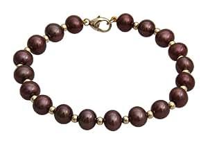 Kimura Pearls - FVS70GB - 2B - Bracelet Femme - Or jaune (9 cts) 0.85 Gr - Perle d' Eau douce