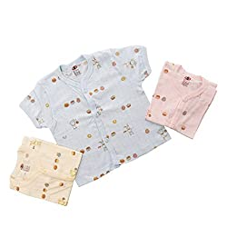 Baby Bucket Printed Sleeveless Vests 3 Pcs. Set (color may vary.) (3-6 months, White)