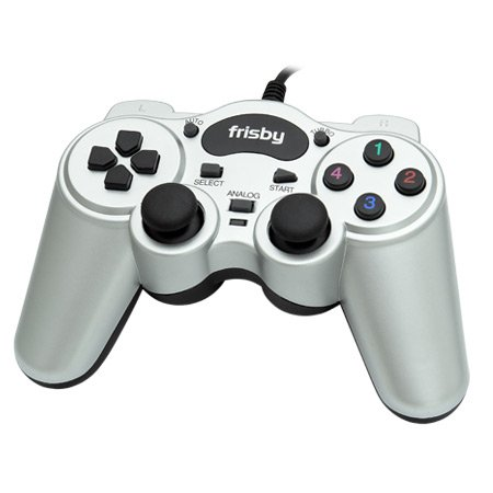Frisby Dual Vibration PC Computer Laptop USB 2.0 Game Pad Controller