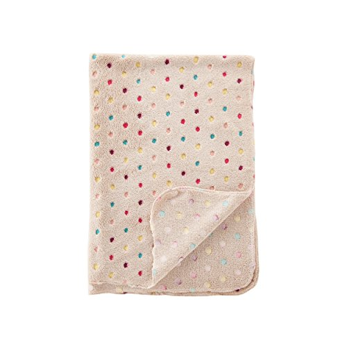 Jusor® Dog/cat Soft Blanket Wave Point Coral Fleece Warm Bed Mat Pet Blanket (Light Khaki)