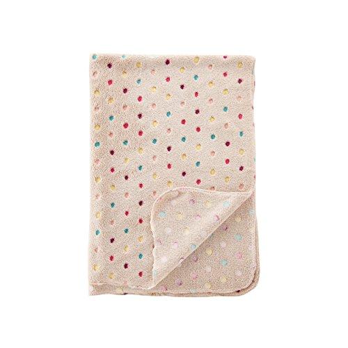 Jusor® Dog/cat Soft Blanket Wave Point Coral Fleece Warm Bed Mat Pet Blanket (Light Khaki)