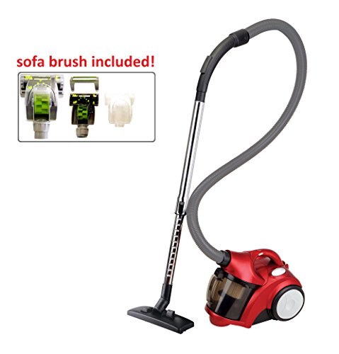 Review Of Ovente ST2510R Adjustable Speed Control Compact Cyclonic Bagless Canister Vacuum with Hepa...