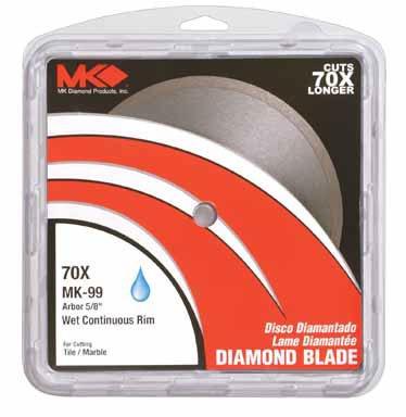 Felker FX-C Continuous Rim Economy Diamond Blades Size: 4.5