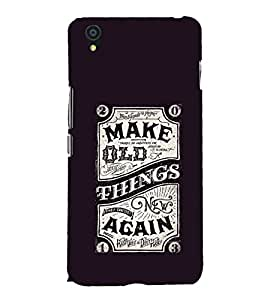 EPICCASE Make Old Things Again Mobile Back Case Cover For OnePlus X (Designer Case)