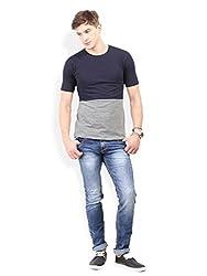 Thisrupt Blue Color Cotton Slim Fit Jeans