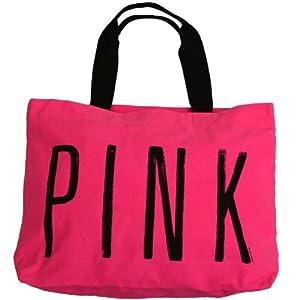Amazon.com: Victoria's Secret PINK LOVE PINK Zipper Weekender Canvas