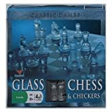 Classic Glass Chess & Checkers Game Strategy Board Fun