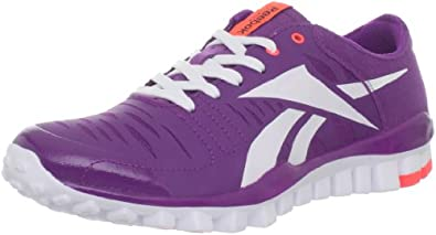 Reebok Women's Realflex Fusion Training Shoe,Aubergine/Vitamin C/White,7 M US