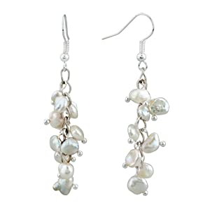 Pugster White Pearl Dangle Gorgeous Earrings