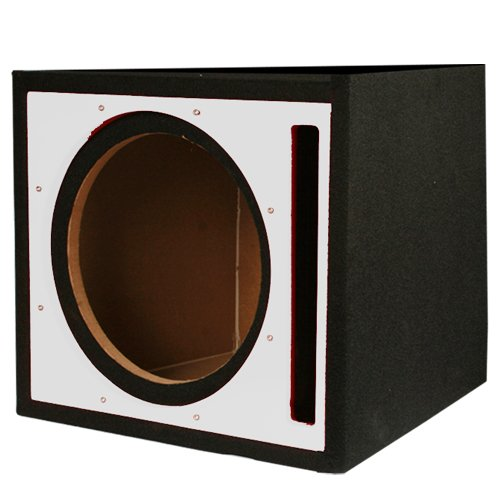 Absolute Usa Pseb10S Single 10-Inch Ported Subwoofer Enclosure With Silver High Gloss Face Board