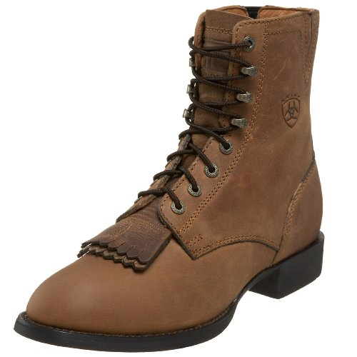 Ariat Women's Heritage Lacer II Lace Western Boot,Distressed Brown,8.5 M US