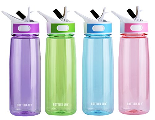 BOTTLED JOY 800ml (27OZ) Camping Water Bottle,Straw Water Bottle For Sports (BPA FREE) (Water Bottles Straw compare prices)