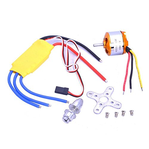 BW A2212 1000KV Outrunner Brushless Motor 30A ESC Electric Speed Controller Set for RC Aircraft Plane Multi-copter Quadcopter