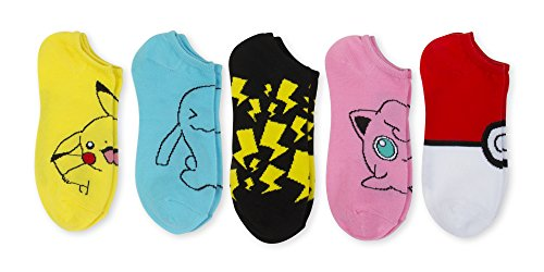 *NEW ITEM* Pokemon 5 Pk No show Socks, Size 9-11