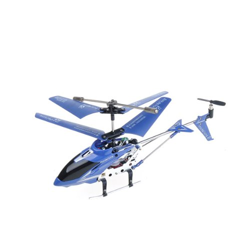 Extra Mini Long Distance Blue Infrared Radio Remote Control Toy Helicopter