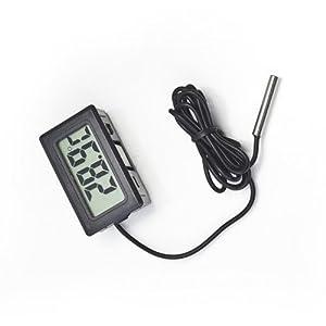 Mini Digital LCD Fish Aquarium Marine Vivarium Thermometer Fish Tank Water Measurement -50℃~110℃ White