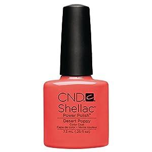 CND Shellac Nail Polish, Desert Poppy, 0.11 lb.