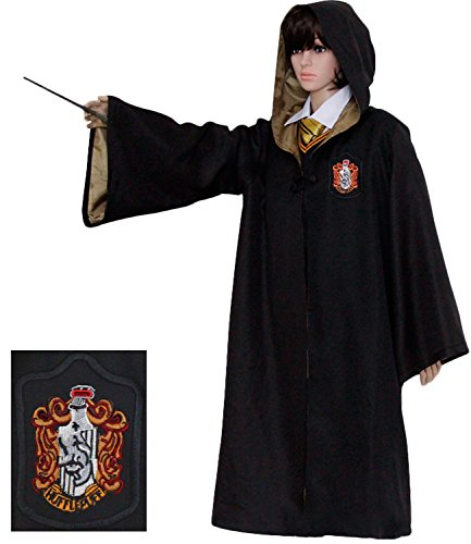 Pulle-A Harry Potter Youth Adult Hogwarts School Costume Robe Cloak L (Hufflepuff Robes)
