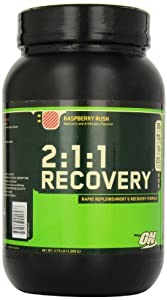 Optimum Nutrition 2:1:1 Recovery, Raspberry Rush, 3.73 Pound