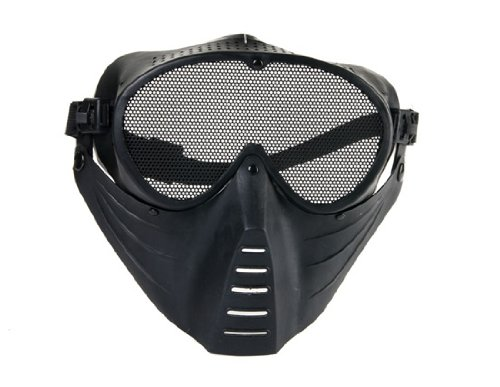 Tactical Airsoft Mesh Face Mask (Black)