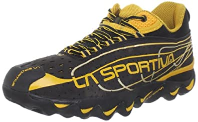 La Sportiva Men's Electron Trail Running Shoe,Black/Yellow,42 EU/9 M US