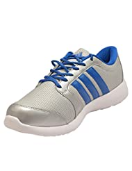 Adidas Men's Altros Grey And Blue Mesh Running Shoes