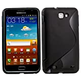 LE Black S-Line Soft TPU Gel Case Cover For Samsung Galaxy Note / i9220 GT-N7000