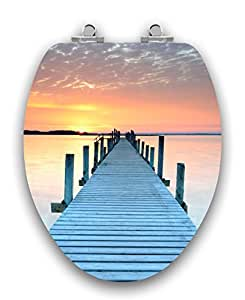TOPSEAT Acrylic Finish Sunset Runway Dock, Wooden,