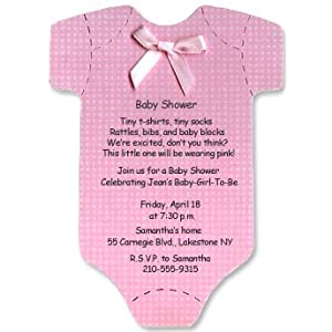 onesie baby shower invitations for baby girl set of 10 baby shower