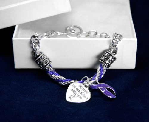 Purple Ribbon Bracelet-Partial Rope (18 Bracelets)