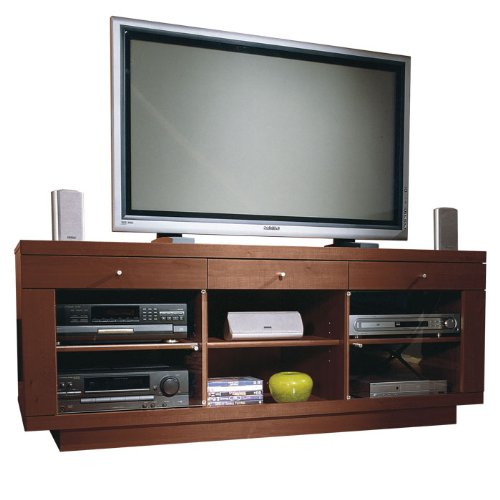 Cognac Widescreen TV Stand Cognac Maple Veneer