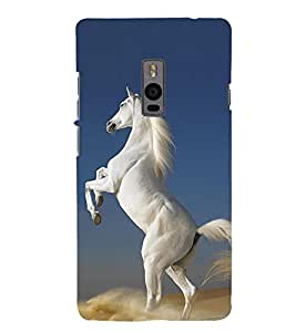 Graceful White Horse 3D Hard Polycarbonate Designer Back Case Cover for OnePlus 2 :: OnePlus Two :: One +2