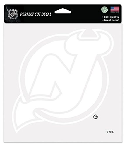 NHL New Jersey Devils Bianco Perfect Cut decalcomania 20x 20cm, 20,3x 20,3cm by WinCraft
