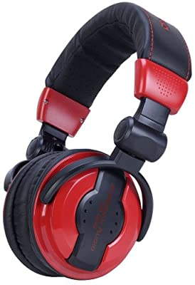 American Audio Hp 550 Red Foldable Professional Headphones by American DJ Group of Companies