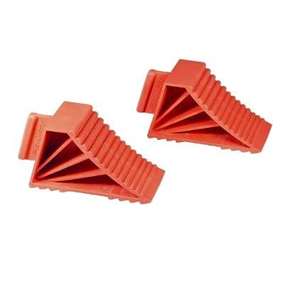Ernst Manufacturing 980-Red High-Grip Wheel Chocks, Red, Set of 2