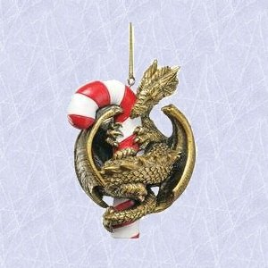Christmas ornament Gothic Candy cane Dragon Holiday new
