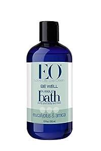 EO Be Well Bubble Bath, Eucalyptus & Arnica, 12 oz (pack of 2)