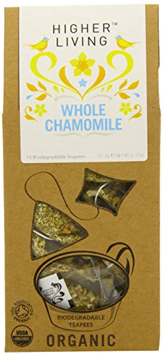 Higher Living Organic Whole Chamomile Flowers (Pack Of 1, Total 15 Teapees)