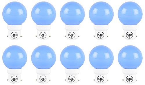 1W-Fiber-B27-LED-Bulb-(Blue,-Set-of-10)
