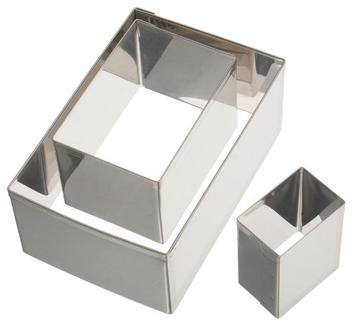 Ateco 3 Piece Rectangle Cutter Set