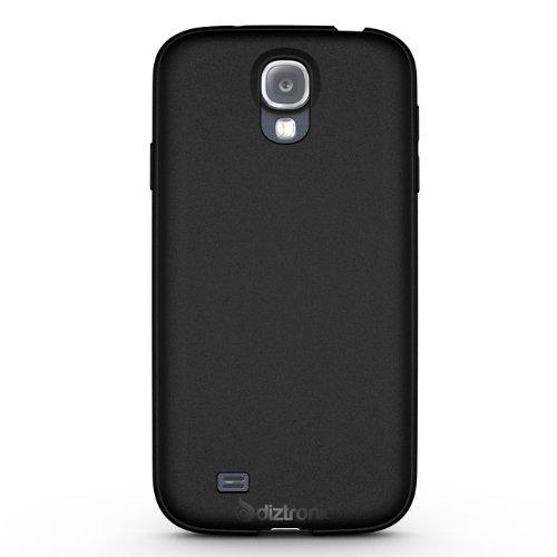 Diztronic Matte Back Black Flexible Tpu Case For Samsung Galaxy S4 - Retail Packaging
